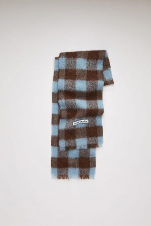 Écharpes Acne Studios Femme/Homme | Checked scarf Brown/Light Blue