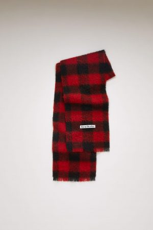 Écharpes Acne Studios Femme/Homme | Checked scarf Red/Black