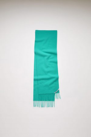 Écharpes Acne Studios Femme/Homme | Pilled wool scarf Turquoise Blue