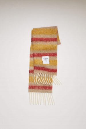 Écharpes Acne Studios Femme/Homme | Striped scarf Beige/Red/Yellow