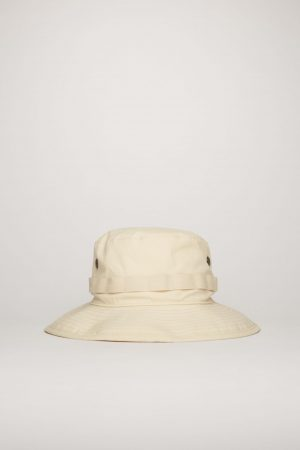 Chapeaux Acne Studios Femme/Homme | Logo-embroidered bucket hat Champagne Beige