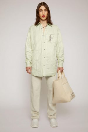 Chemises Acne Studios Homme   Quilted overshirt Meadow Green