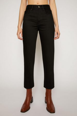 Jeans Acne Studios Femme | Cropped straight-leg jeans Stay Black
