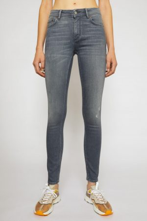Jeans Acne Studios Femme | Mid-rise skinny jeans Grey
