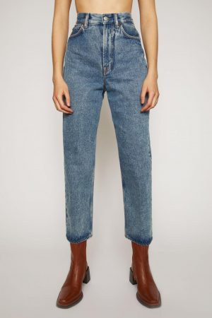 Jeans Acne Studios Femme | Relaxed tapered jeans Mid Blue