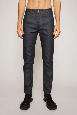 Jeans Acne Studios Homme | Slim tapered fit jeans Indigo Blue