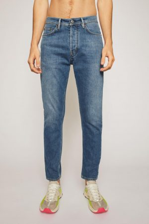 Jeans Acne Studios Homme   Slim tapered jeans Mid Blue