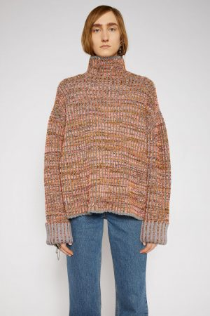 Maille Acne Studios Femme | Flecked sweater Fluo Pink/Multi