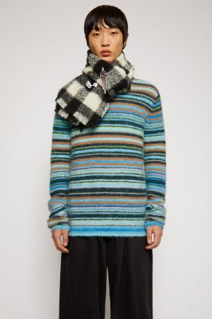 Maille Acne Studios Homme | Striped sweater Azure Blue/Light Blue