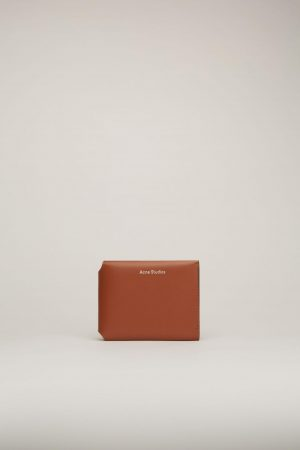 Petite maroquinerie Acne Studios Femme/Homme | Trifold card wallet Almond Brown