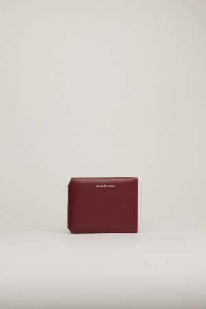 Petite maroquinerie Acne Studios Femme/Homme | Trifold card wallet Burgundy