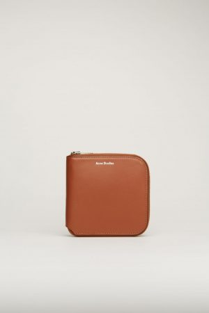 Petite maroquinerie Acne Studios Femme/Homme | Zippered wallet Almond Brown
