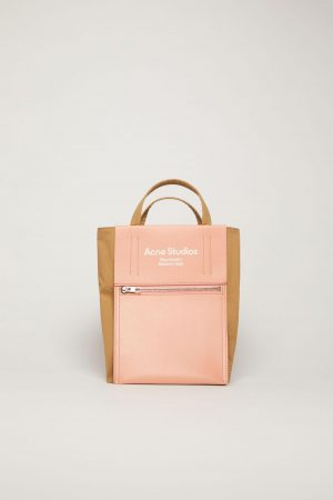 Shopping tote Acne Studios Femme/Homme | Mini tote bag Brown/Pink