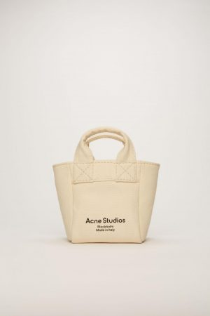 Shopping tote Acne Studios Femme/Homme | Small canvas shopper Beige