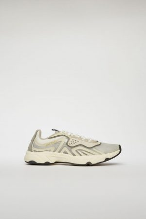 Sneaker Acne Studios Femme | Lace-up sneakers White/Ivory/Ivory