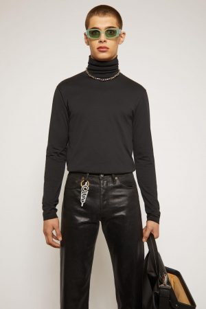 T-shirts Acne Studios Homme   Roll-neck jersey top Black